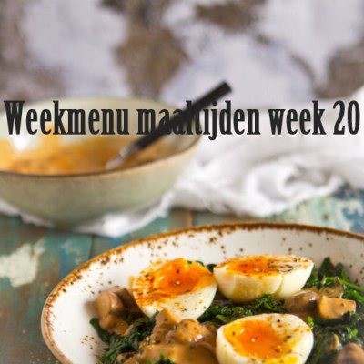 Weekmenu maaltijden week 20