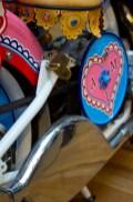 Detail van de motor: Sleutel in de vorm van hartje.