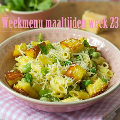 Weekmenu maaltijden week 23