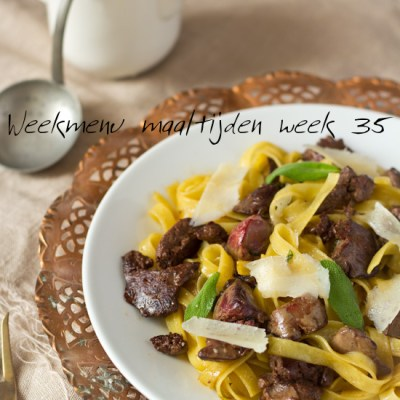Weekmenu maaltijden week 35