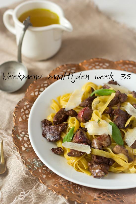 Weekmenu maaltijden week 35