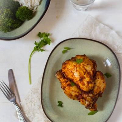 Harissa poussins of kip uit de oven recept
