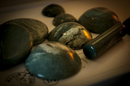 Hot Stones zur Massage