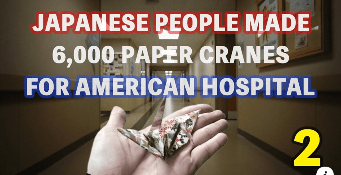 Japanese people made 16,000 paper cranes for patients and medical workers!!