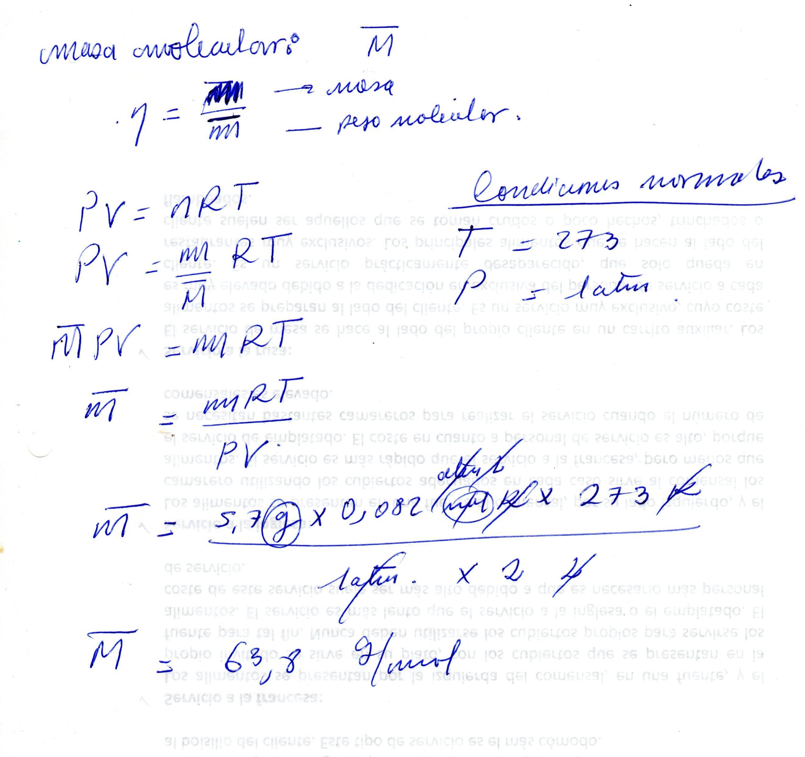 Un Volumen De 2 00 Litros De Un Gas Medidos En Condiciones