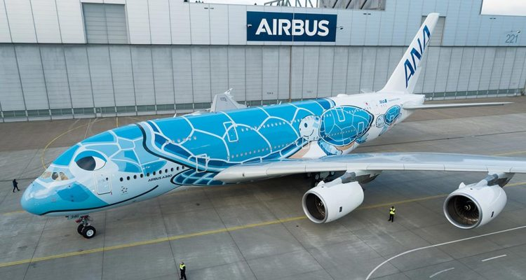 Primer A380 de ANA All Nippon Airways