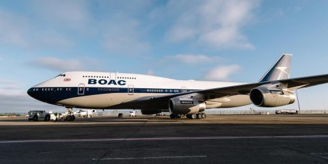 british airways 747 BOAC