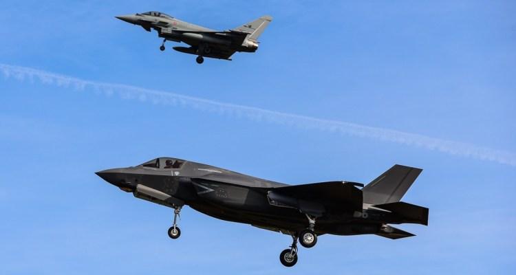 Eurofighter y F-35A JSF Lightning II