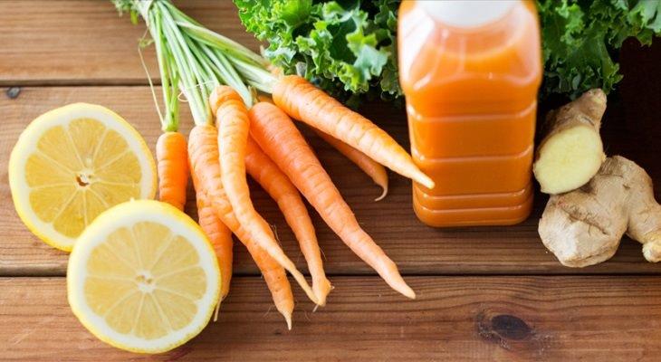 beneficios jugo de zanahoria
