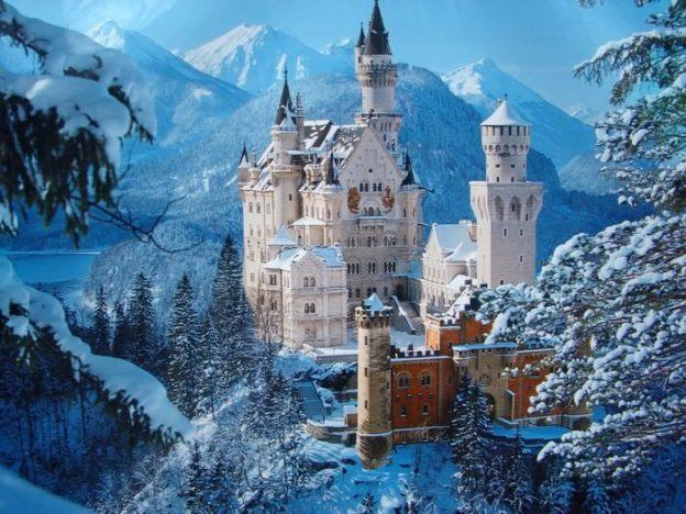 Castillos Medievales Castillo de Neuschwanstein, Alemania en invierno