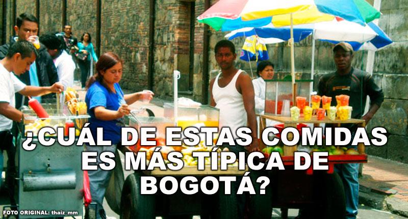 ¿Cuál de estas comidas es más típica de Bogotá?