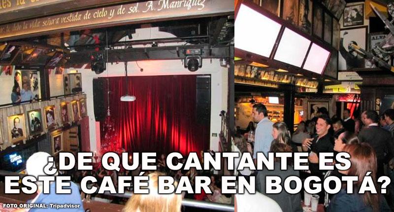 ¿De qué cantante es este Café en Bogotá?