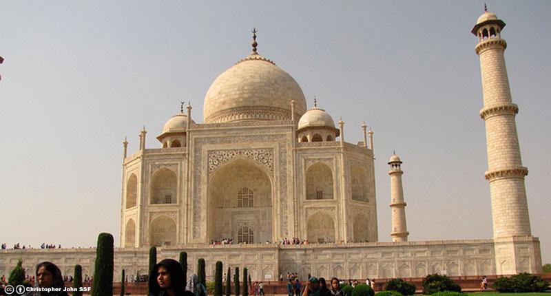 El Taj Mahal está ubicado en...