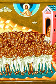 Los 40 mártires de Sebaste, Santos