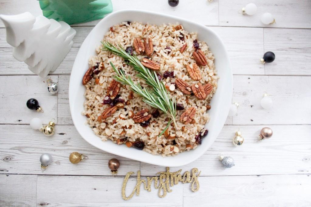 Especial de Navidad: Pilaf de arroz con almendras, pecanas y cranberries