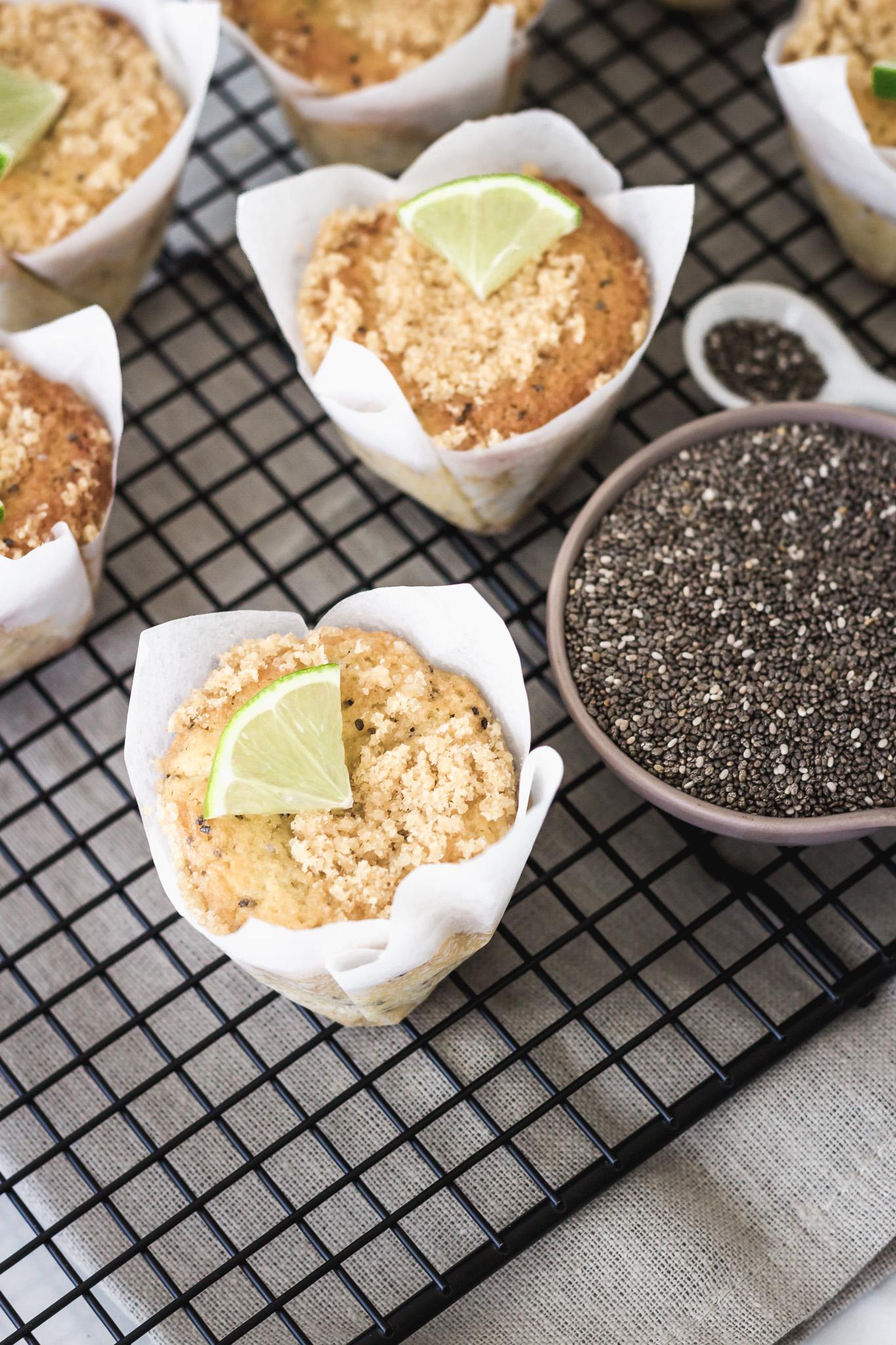 Muffins de limón y chía