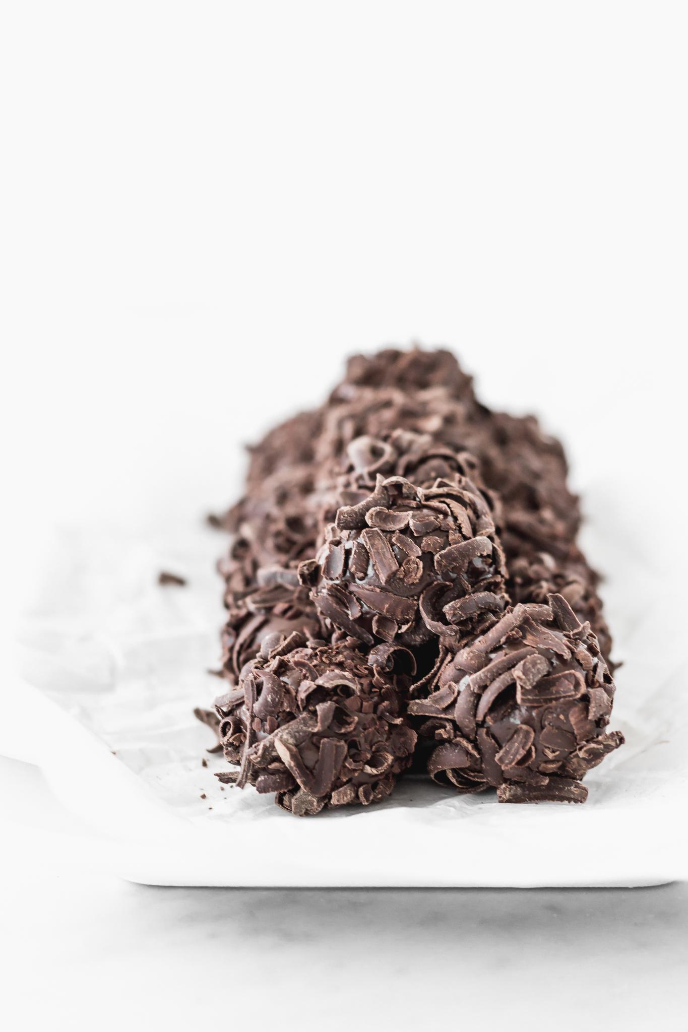 Trufas de chocolate a la peruana
