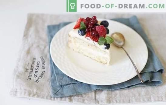 Bizcocho con crema pastelera - arte de pastelería clásico ...
