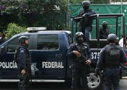 Oficiales de la Policía Federal mexicana