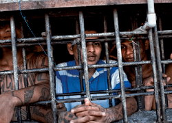 De la portada del informe sobre prisiones salvadoreñas