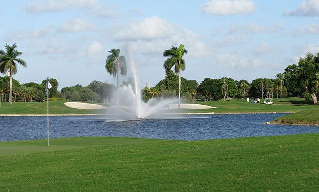 Campo de golf en el Trump National Doral, en Miami