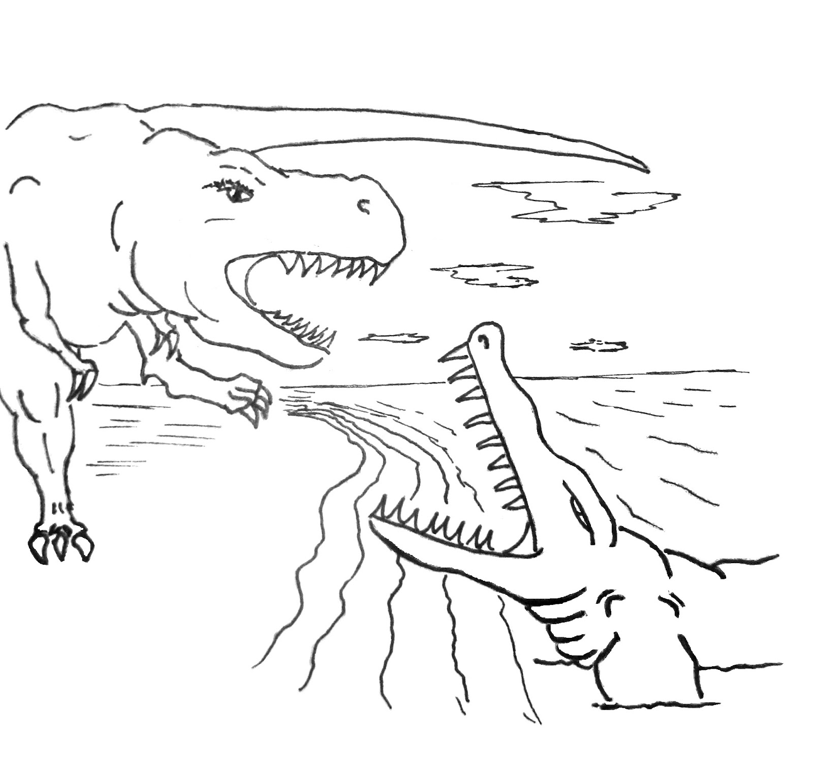 204 Dibujos De Dinosaurios Para Colorear
