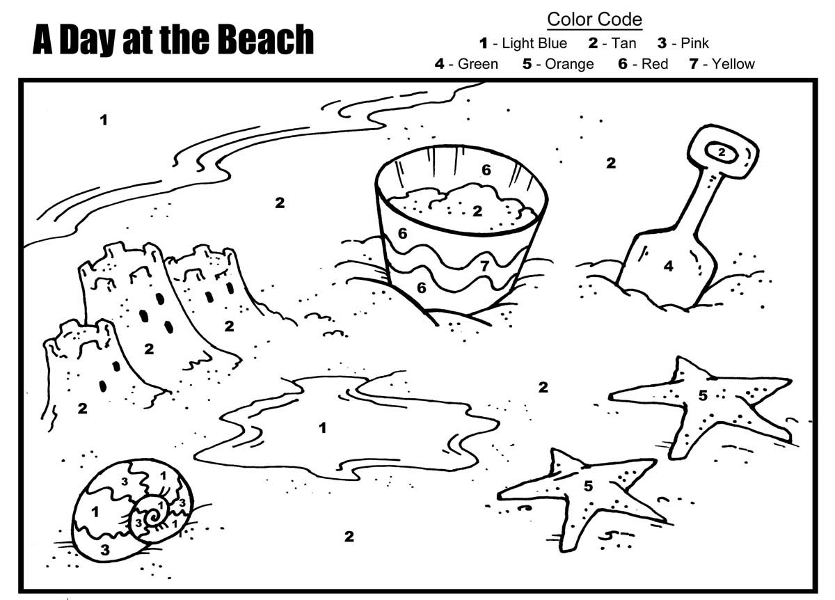 56 Dibujos De Playas Para Colorear
