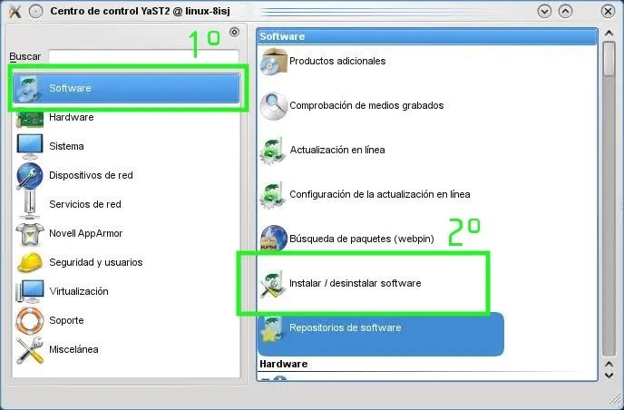 Añadir repositorios e instalar programas desde Yast en openSUSE (3/3)