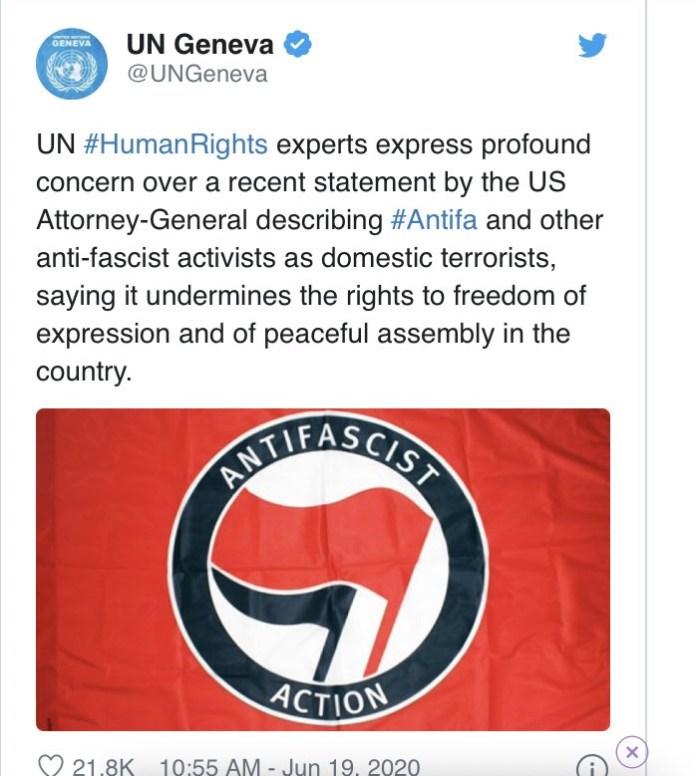 ONU DECLARA APOIO AOS ANTIFAS E REMOVE PUBLICAÇÃO APÓS PRESSÕES NAS REDES SOCIAIS