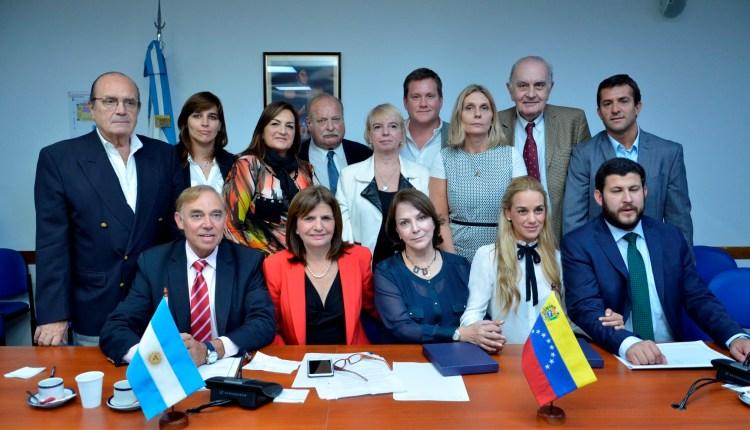Mitzy de Ledezma con Diputados Argentinos (2)