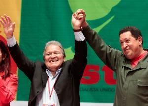 Sanchez Ceren y Hugo Chavez