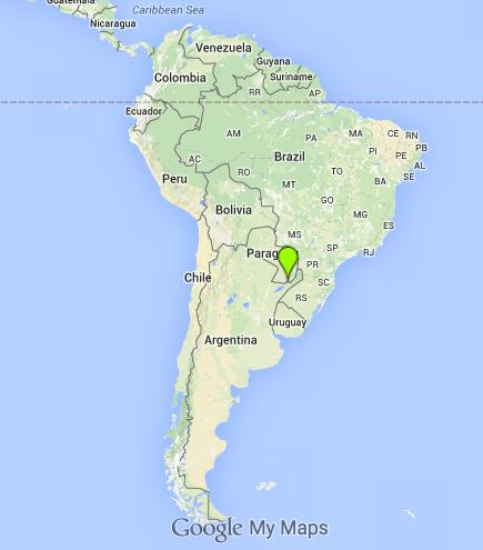 El Puente Internacional que une Posadas de Encarnación es uno de los más importantes del la provincia argentina. (Google Maps)