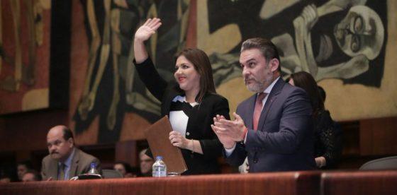 María Alejandra Vicuña elegida como la nueva vicepresidente de Ecuador