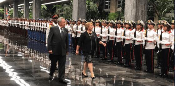 Michelle Bachelet se despidió de Cuba ignorando por completo a la disidencia