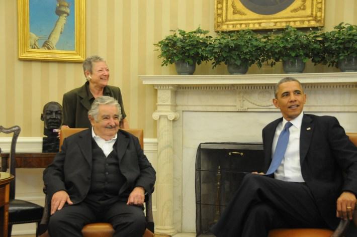 El presidente uruguayo José Mujica con Barack Obama, presidente de Estados Unidos, en la Casa Blanca. Fuente: Presidencia de la República Oriental del Uruguay.