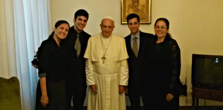El encuentro entre el Papa y los familiares de Oswaldo Payá duró 20 minutos. Fuente: oswaldopaya.org