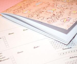 Druckvorlage - DIY Projektbuch basteln - dotted A5