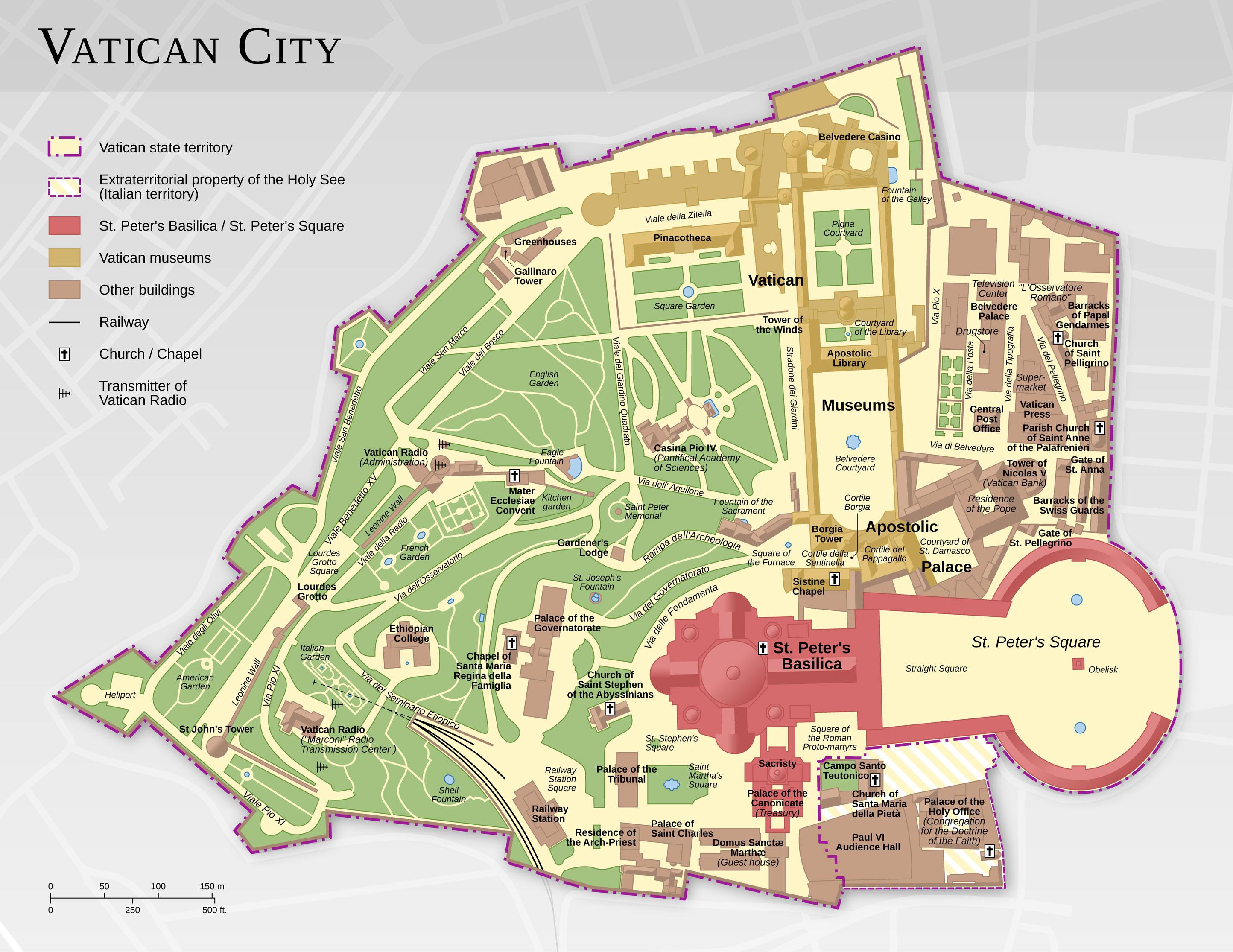 Resultado de imagen de vaticano mapa