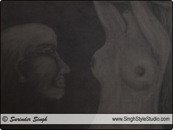 Dibujo figurativo, Delhi, India