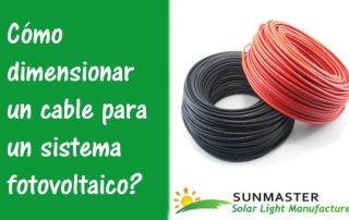 Cómo dimensionar un cable para un sistema fotovoltaico - Blog Energía Solar