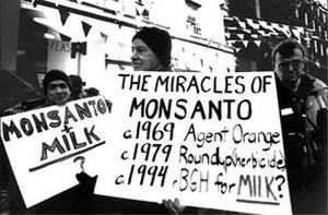 Protesta cotra Monsanto