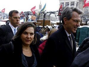 Victoria Nuland y el embajador de Estados Unidos en Ucrania