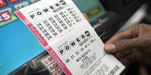 Powerball lottery ticket photo