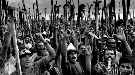 manifestación MST Brasil