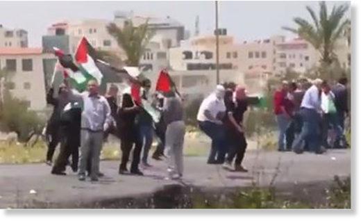 Gaza protestors shot