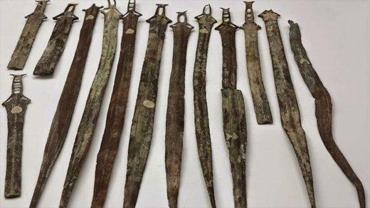 Espadas que datan de la Edad de Bronce.