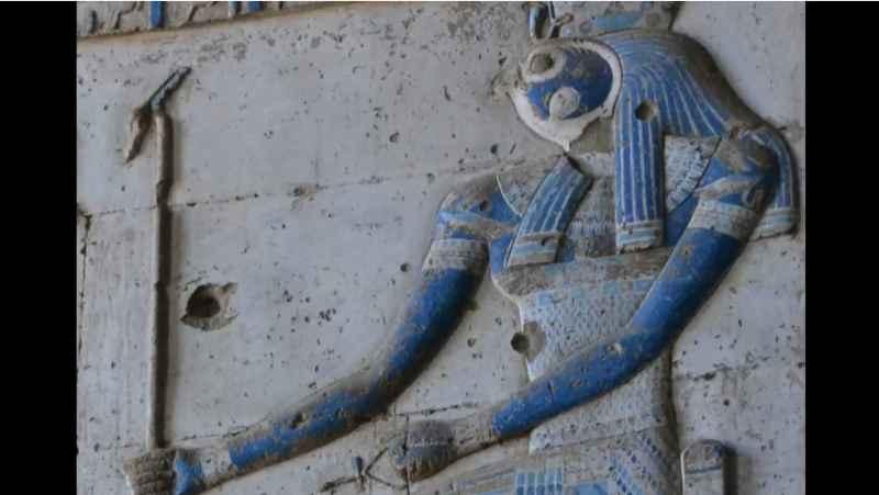 5 Closeup Of Horus At Temple Of Hathor