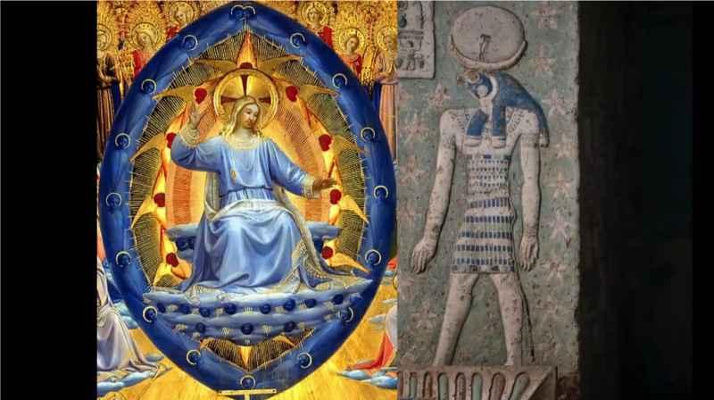 7 Jesus In Blue Orb And Horus