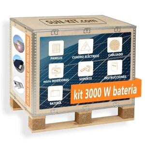 8 paneles y batería para tejado