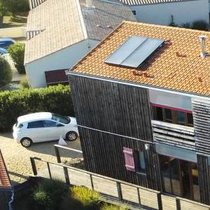 kit solar 2 paneles sobre teja